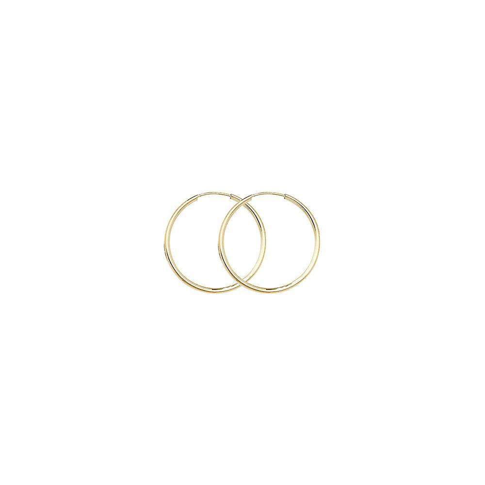 Eternity 9ct Gold 22mm Round Sleeper Hoop Earrings