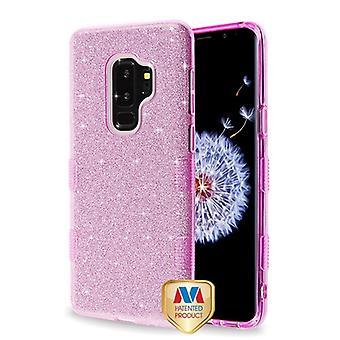 MYBAT Purple Full Glitter TUFF Hybrid Case pour Galaxy S9 Plus