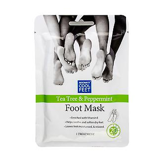 Escenti Cool Feet Foot Mask Sock ~ Tea Tree And Peppermint