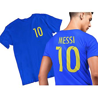 Messi stijl voetbal T-shirt-blauw
