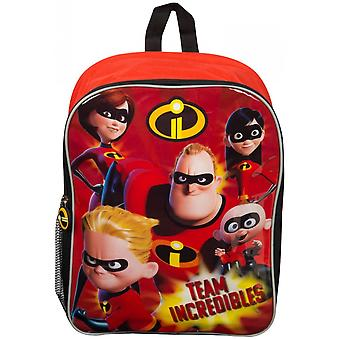 Incredibles Large Kids Backpack With Mesh Pocket