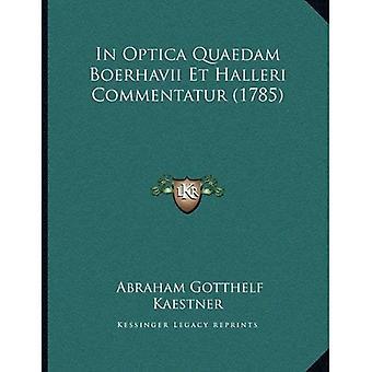 À Optica Quaedam Boerhavii et Halleri Commentatur (1785)