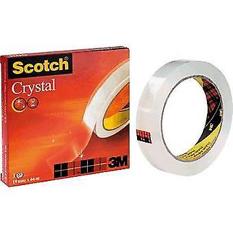 3M C6001966 Teippi scotch® Kristallinkirkas 600 Läpinäkyvä (L x W) 66 m x 19 mm 1 kpl