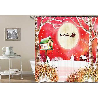 Rustieke kerst schilderij douche gordijn
