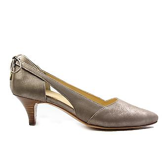 Paul Green 3651-03 Champagne Shimmer Suede nahka naisten slip on kissan kantapää Court kengät