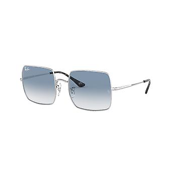 Ray-Ban Square RB1971 91493F Silver/Clear Gradient Blue Sunglasses