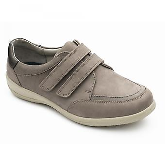 Padders كيتلين السيدات الجلود اضافية واسعة (2e/3e) أحذية خفيفة Taupe
