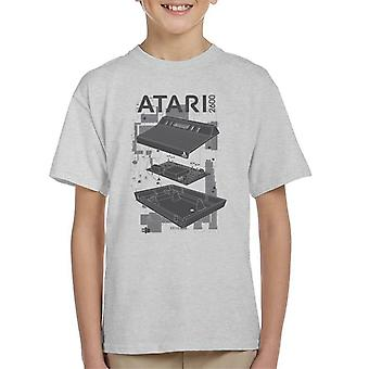 Atari 2600 Console Schematic Kid's T-Shirt