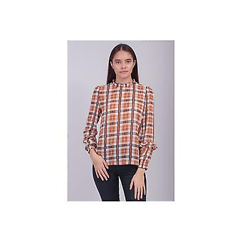 Saint Tropez Checked Woven Blouse