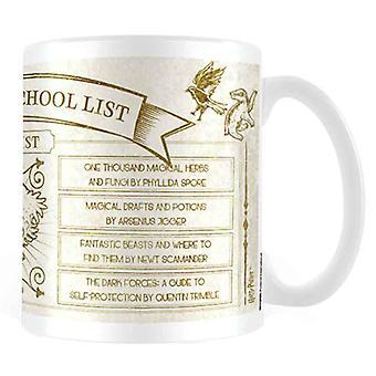 Harry Potter Mug Hogwarts School List Books new Official White Boxed