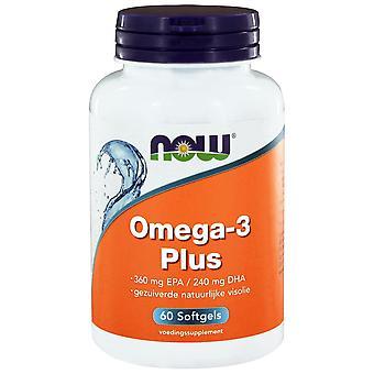 Omega-3 Plus 360 mg EPA 240 mg DHA (60 softgels) - NOW Foods