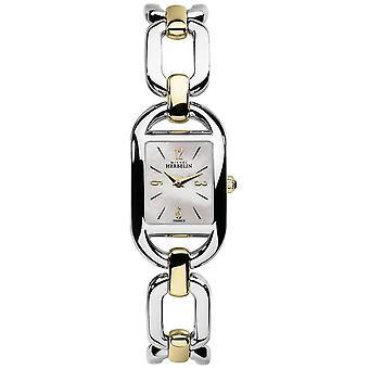 Michel Herbelin Womens Kyudo MOP Dial Two Tone Stainless Steel Bracelet 17471/BT19 Watch