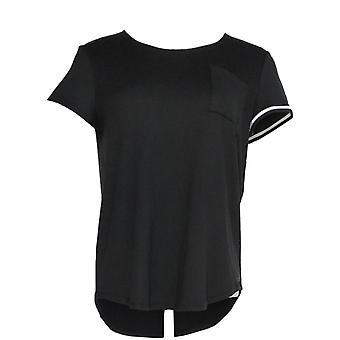 Cuddl Duds Women's Sleepshirt Cool & Airy Jersey Print Black A346857