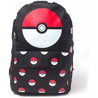 Pokemon Pokeball AOP grote rugzak tas schooltas 41cm