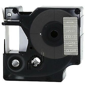 Kaseta Prestige™ kompatybilna d1 45810 biała na przezroczystych taśmach (19mm x 7m) dla producentów etykiet elektronicznych