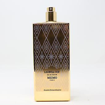 Lalibela Oud by Memo Paris Eau De Parfum 2.53oz/75ml Spray New,as shown