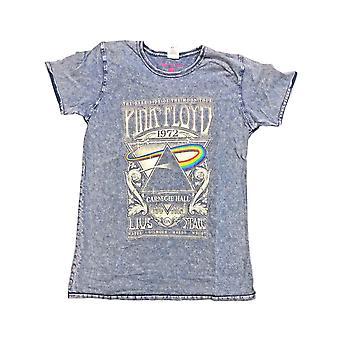 Pink Floyd T Shirt Carnegie Hall Live new Official Mens Denim Blue Burn Out