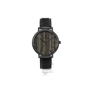 Watch Pierre Lannier 241D483 - Glass-polished grey steel glass s rigraphi grey black wood dial index black Men