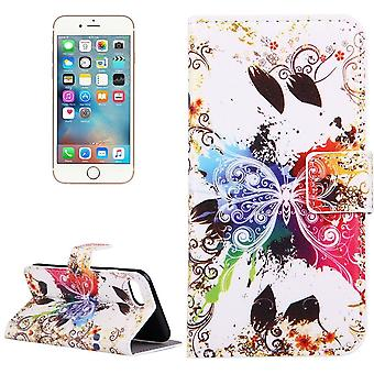 Pour iPhone SE (2020), 8 et 7 Portefeuille Case,Crystal Butterfly Durable Protective Leather Cover