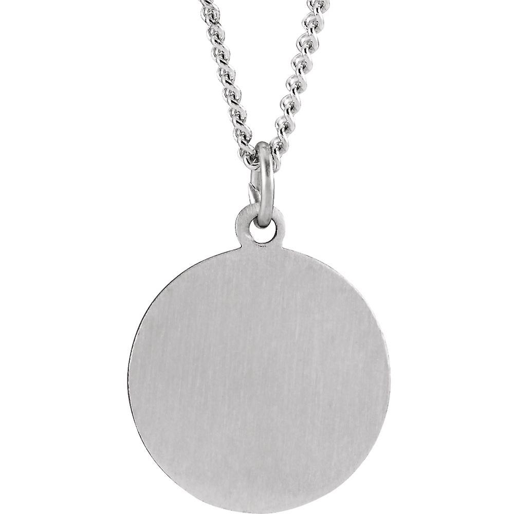 925 Sterling Silver Confirmation Medal Pendant Necklace With Religious Faith Cross 15mm Jewelry Gifts for Women