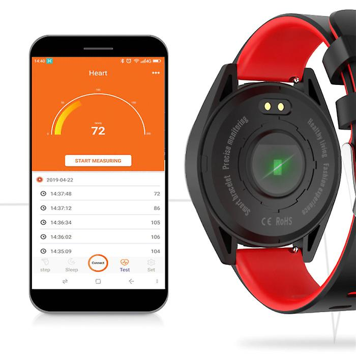 Lige Sports Smartwatch Fitness Sport Activity Tracker Smartphone Watch iOS Android iPhone Samsung Huawei Red