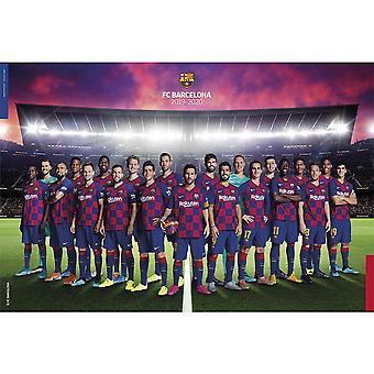 FC Barcelona Squad Poster