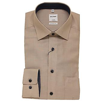 OLYMP Olymp Brown Shirts 1068 54 27