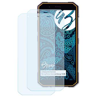 Bruni 2x Screen Protector compatible with myPhone Hammer Energy 18X9 Protective Film