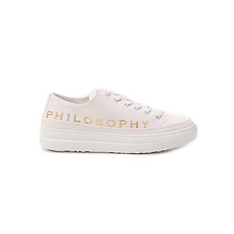 Filosofia por Lorenzo Serafini 32230782a0002 Women's White Fabric Sneakers