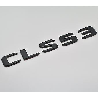 Matt Black CLS53 Flat Mercedes Benz Car Model Rear Boot Number Letter Sticker Decal Badge Emblem For CLS Class W219 W218 C257 AMG