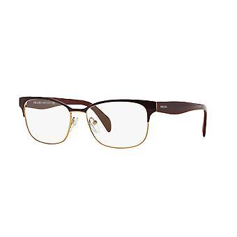 Prada VPR65R UAN1O1 Bordeaux-Pale Gold Glasses