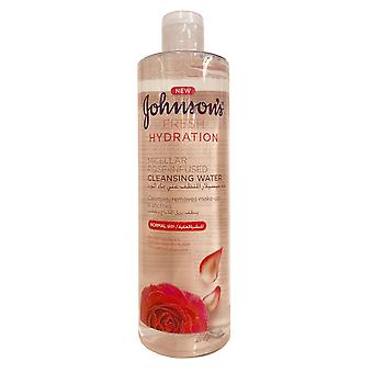 Johnson and Johnson Johnsons Cleansing Water Fresh Hydration 400ml Normal Skin Rose Infused
