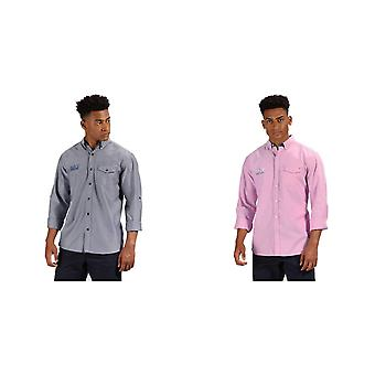 Regatta Mens Benan manica lunga Button up camicia