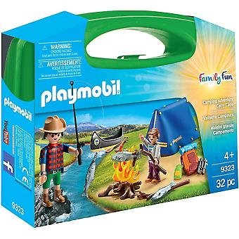 Playmobil 9323 Large Family-Fun Camping Adventure Carry Case 32PC Playset
