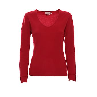 Not Shy 3501001ccarmin Women's Red Cashmere Sweater