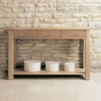 Mobel Oak Console Table-Baumhaus