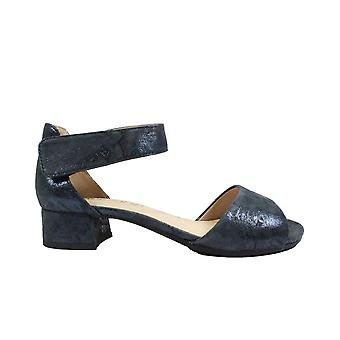 Caprice 28212 Navy Nubuck Leather Womens Smart Ankle Strap Sandals
