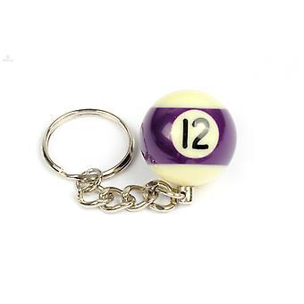Keychain/Key Chain billiard Ball (NO #12)