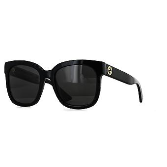 Gucci GG0034S 001 Black/Grey Sunglasses