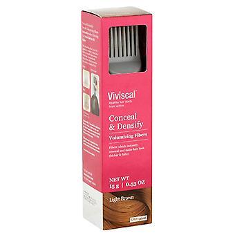 Viviscal conceal & densify volumizing fibers, light brown, 1 ea