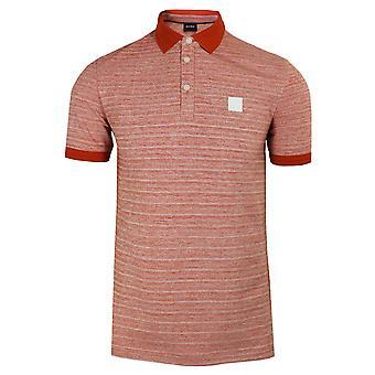 Hugo boss men's dark orange pself polo shirt