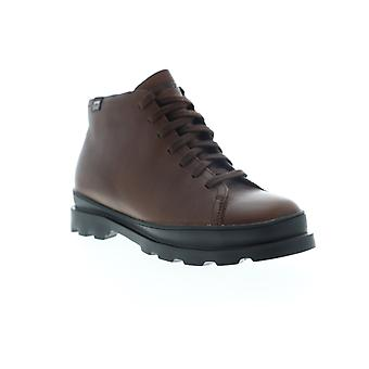 Camper Brutus  Mens Brown Leather Mid Top Lace Up Casual Dress Boots
