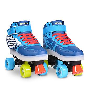 Byox Roller skates Flash various sizes sole illuminated PVC rollers ABEC-5