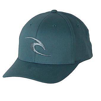Rip Curl Men's Flexfit Cap ~ Fleck Curve Peak teal
