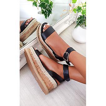 IKRUSH Womens Daisy Strappy Platform Sandals