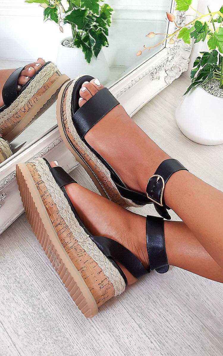 IKRUSH Womens Daisy Strappy Platform Sandals qujED