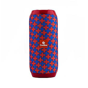 Bluetooth Speakers CoolBox COOLTUBE 10W 1200 mAh FM Red Blue