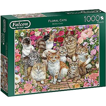 Falcon De Luxe 1000 Piece Floral Cats