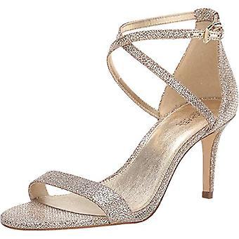 MICHAEL Michael Kors Ava Mid Sandal Silver/Sand 7