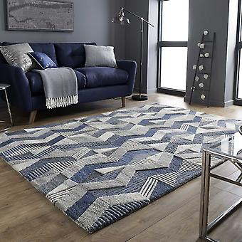 Asher Wool Rugs In Blue From The Moda Collection